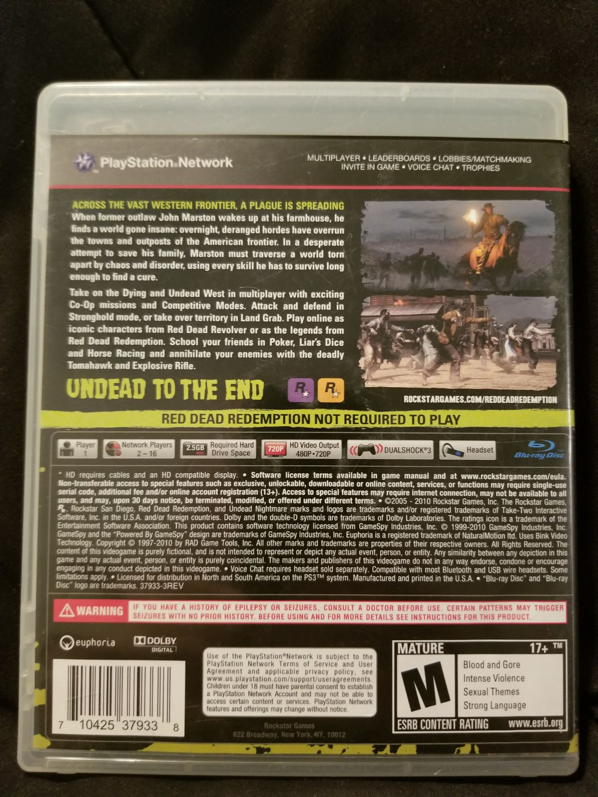 Ps3 Undead Nightmare