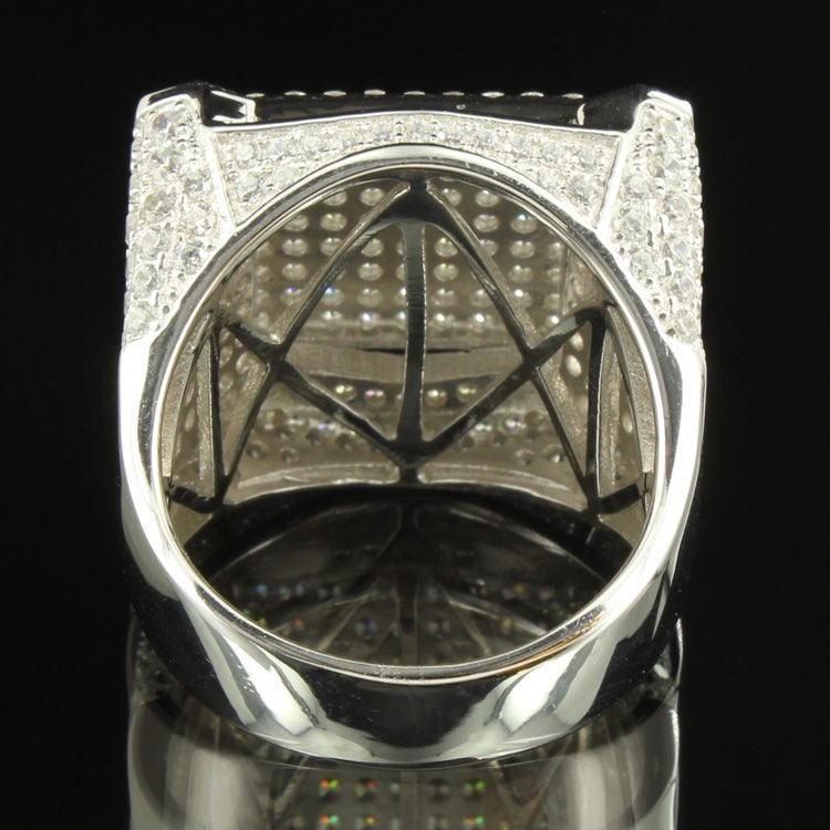 Hip Hop Icedout 14k White Gold Mens Ring