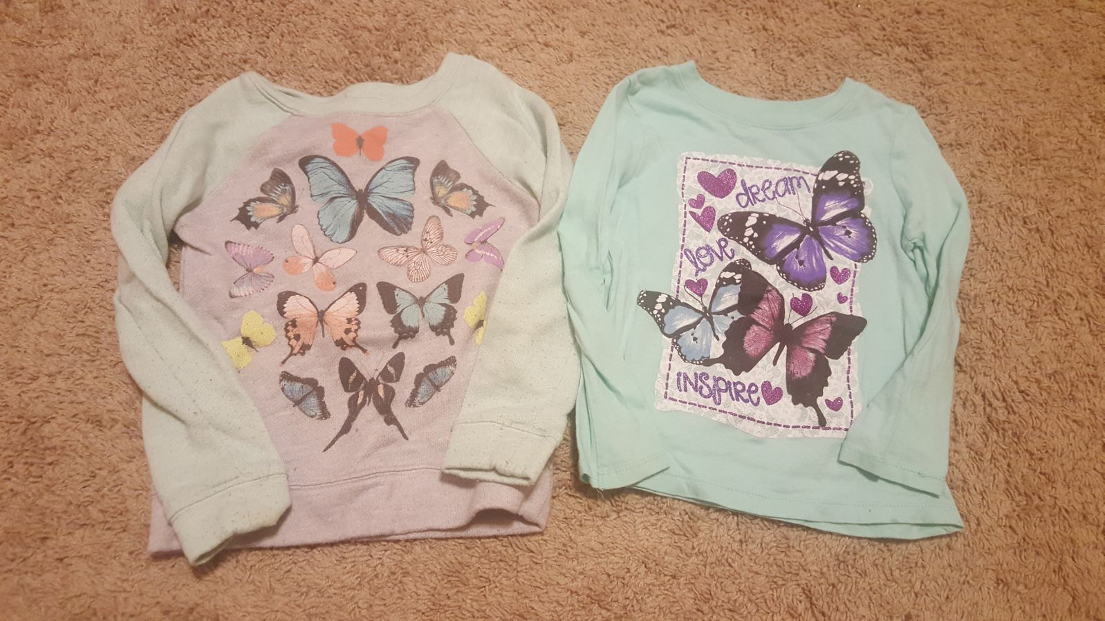 Girls butterfly shirts 4/5