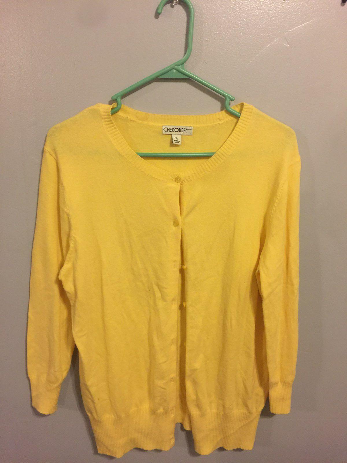 Women's Cherokee Xl Yellow Sweater - Mercari: BUY & SELL THINGS ...