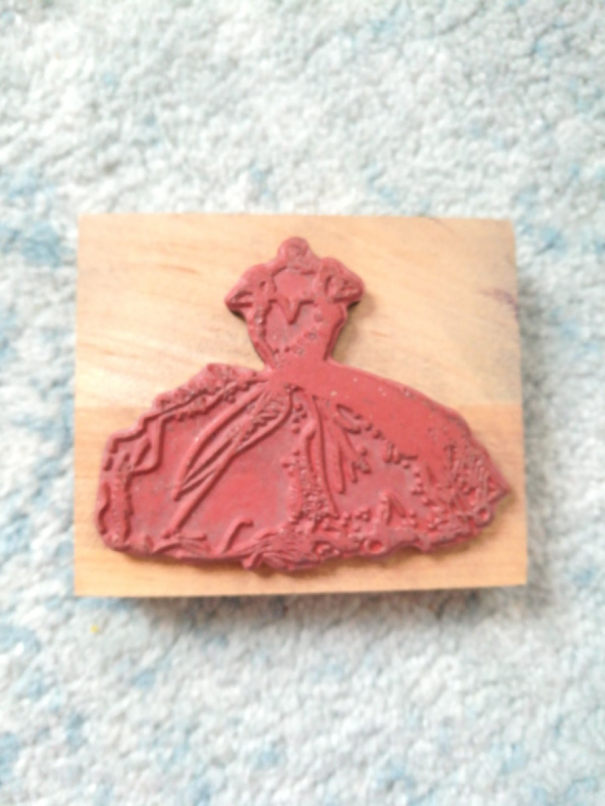 Large wedding dress rubber stamp mercari the selling app for Wedding dress rubber stamp