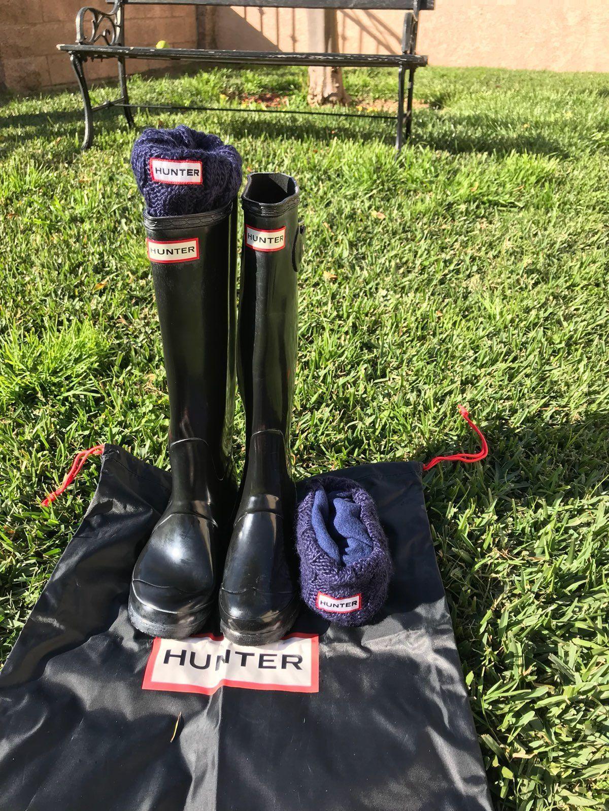 Hunter Rain Boots Classic Tall Sz US 5