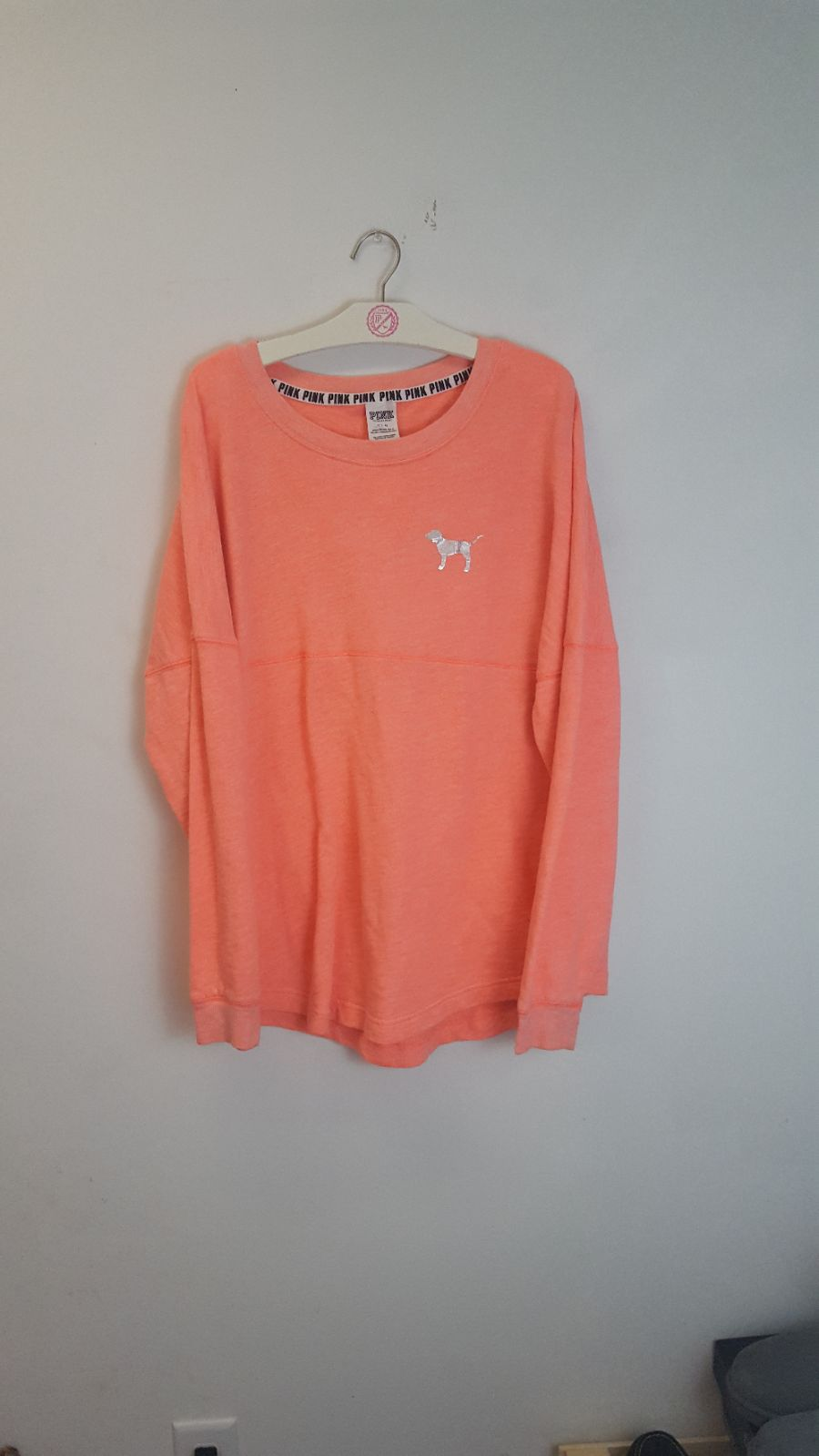 VS PINK L Orange Tribal Crewneck Sweater - Mercari: BUY & SELL ...