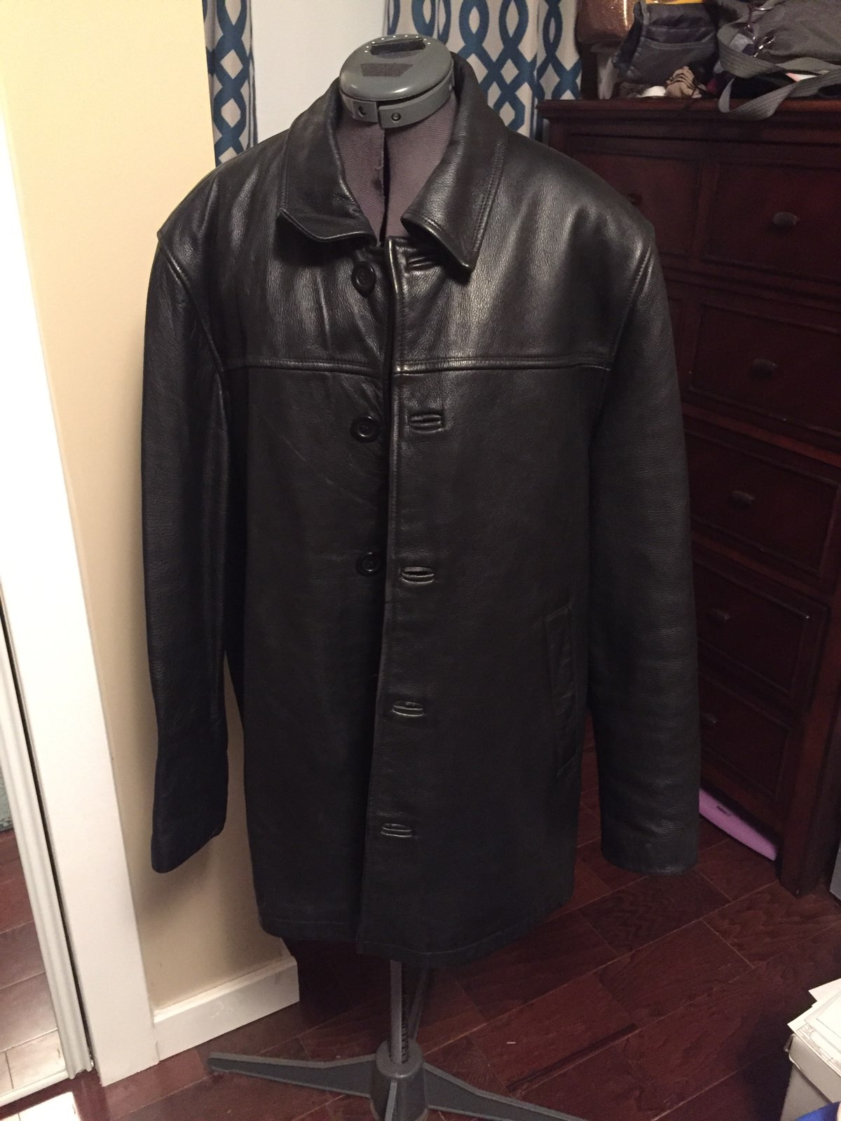 Men's Leather Limited Car Coat Lined - Mercari: BUY & SELL THINGS ...