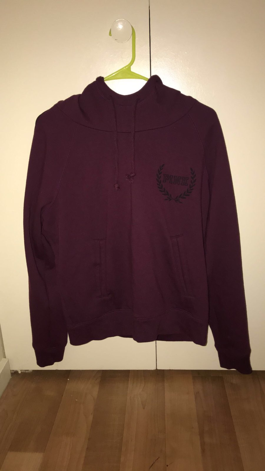 PINK Burgundy Hoodie - Mercari: BUY & SELL THINGS YOU LOVE