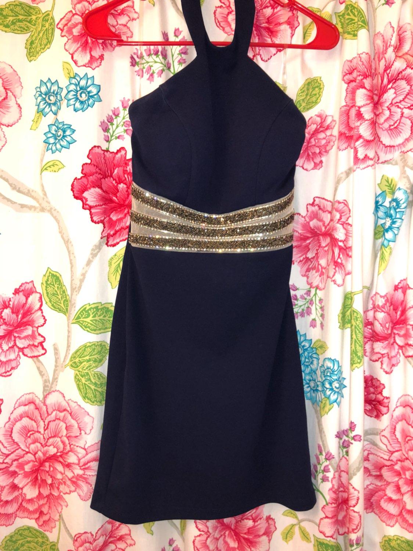 Navy blue dance dress