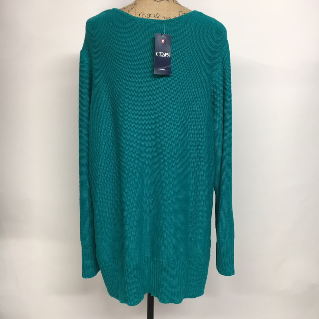 CHAPS Teal Cable Knit V-neck Sweater - Mercari: BUY & SELL THINGS ...