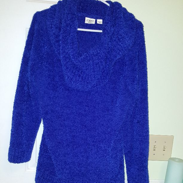 Royal blue cowl neck sweater Sz 2x - Mercari: BUY & SELL THINGS ...