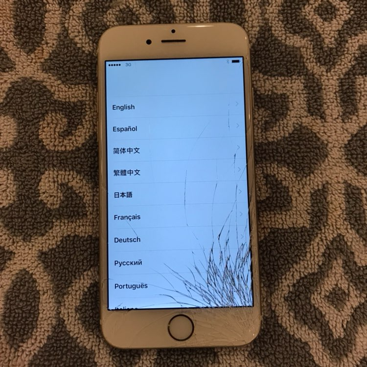 IPhone 6 Gold Cracked Screen