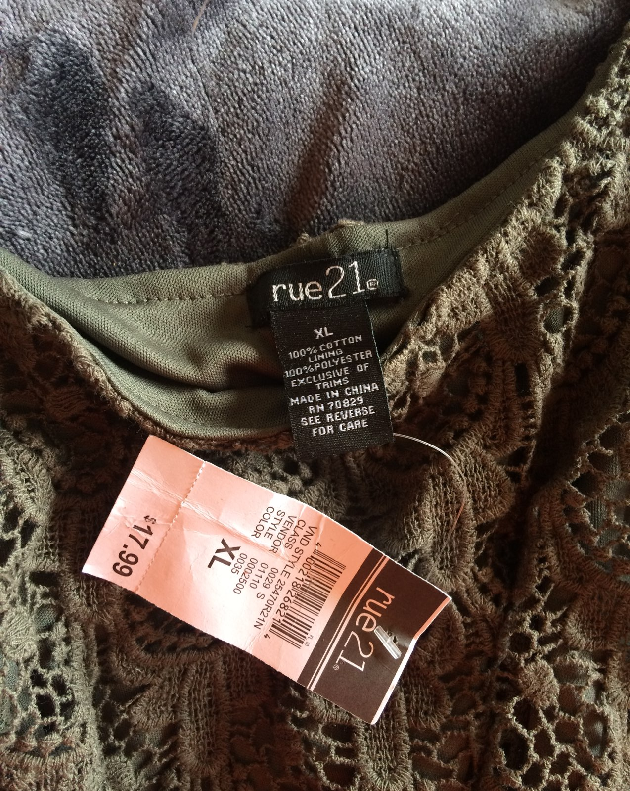 Crop top Rue21 XL