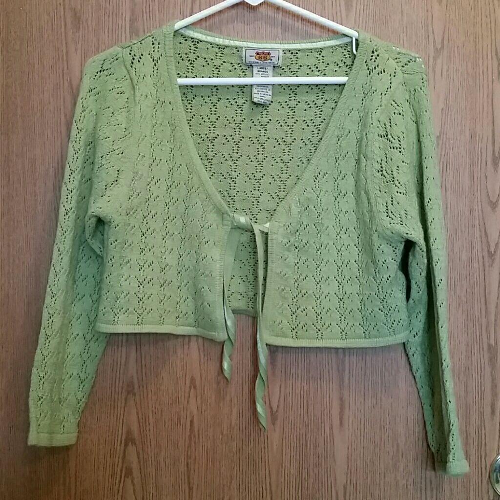 Route 66 Crop shrug sweater sz large - Mercari: BUY & SELL THINGS ...