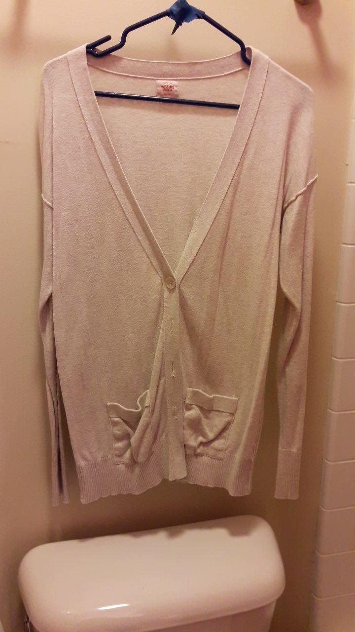 Long Sleeve Cream Cardigan - Mercari: BUY & SELL THINGS YOU LOVE