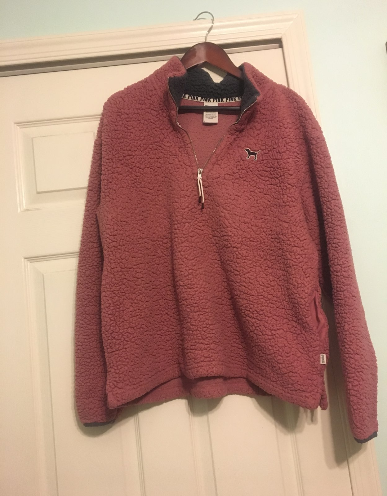 pink sherpa pullover - Mercari: BUY & SELL THINGS YOU LOVE