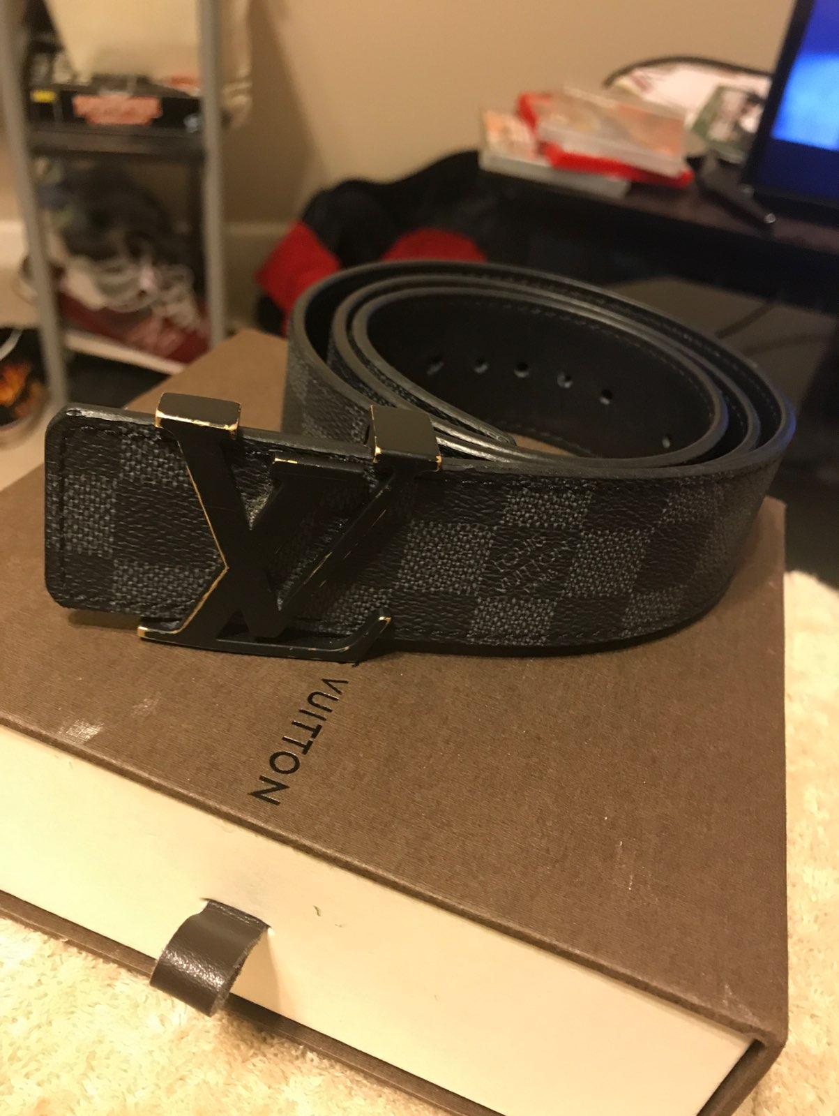 black Louis Vuitton Belt