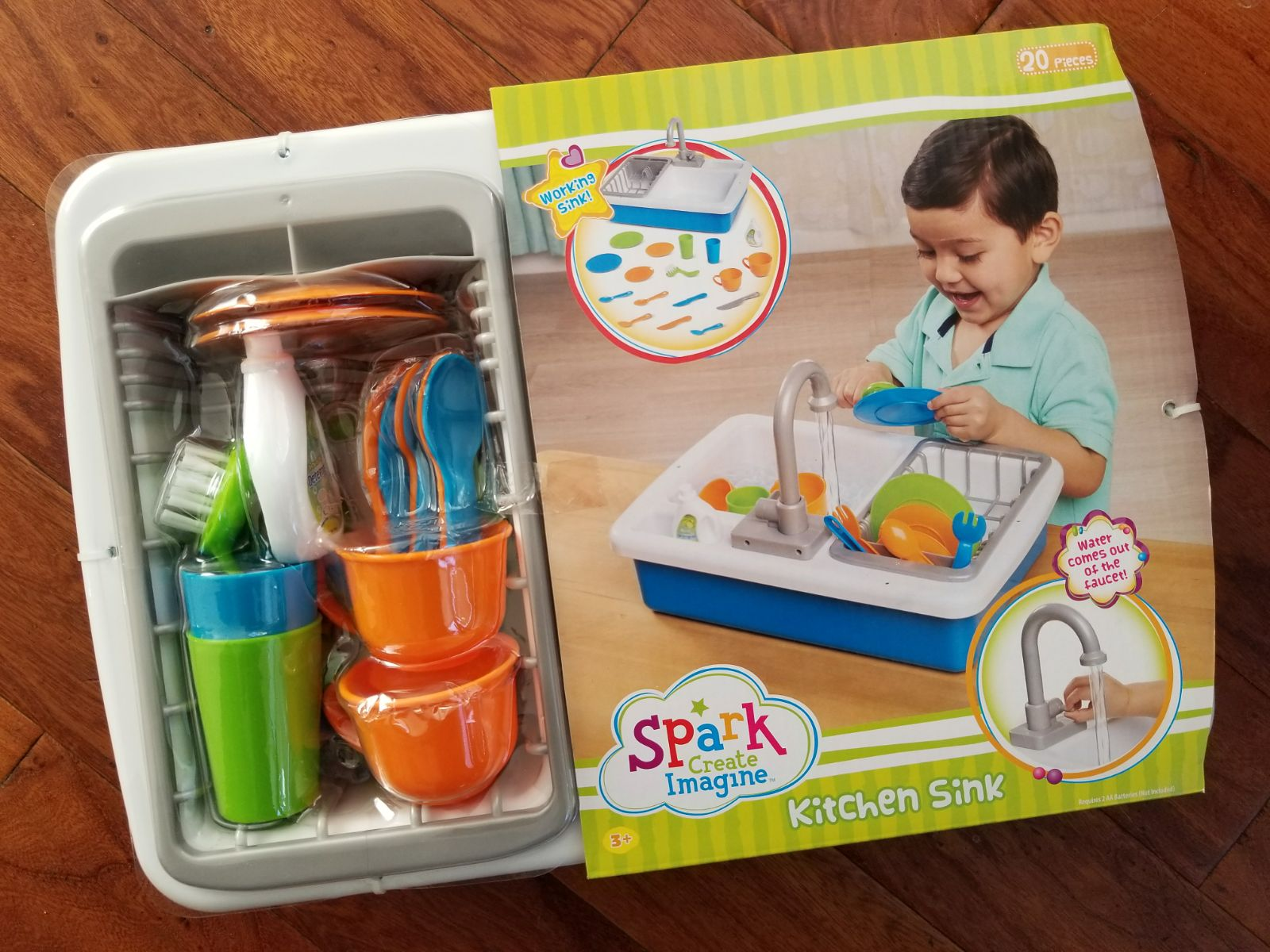 New Spark Kids Kitchen Sink Pretend Play - Mercari: BUY & SELL ...