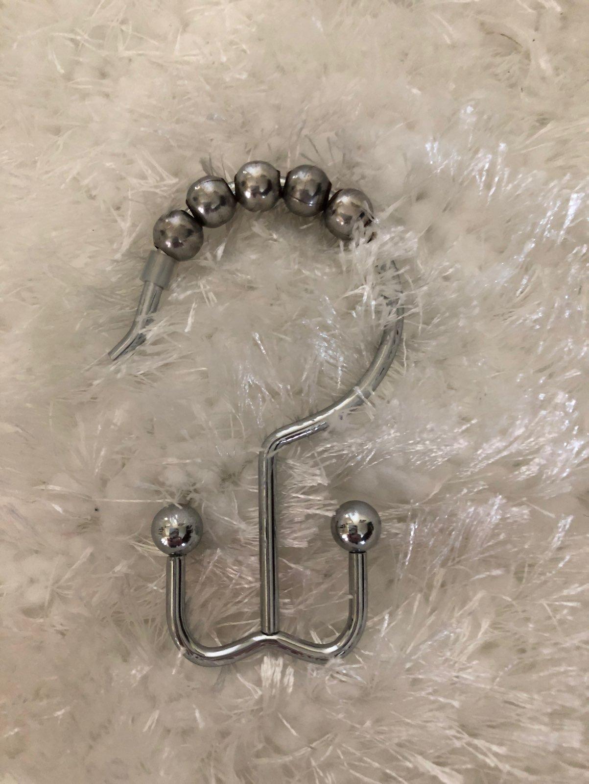 Set Of 12 Double Sided Shower Hooks