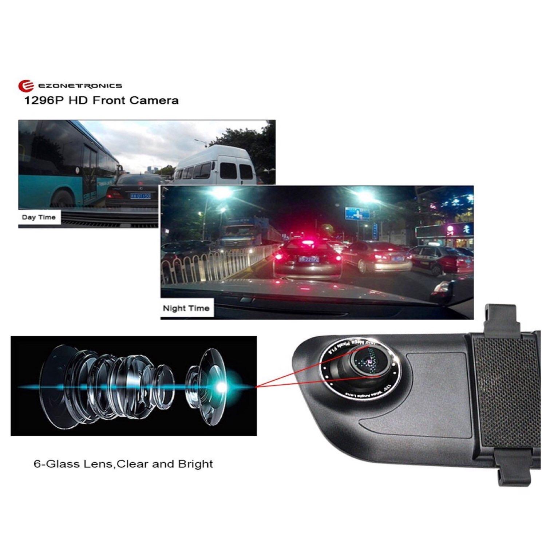 5'' Inch Dual Lens Dash Cam w/ G-Sensor