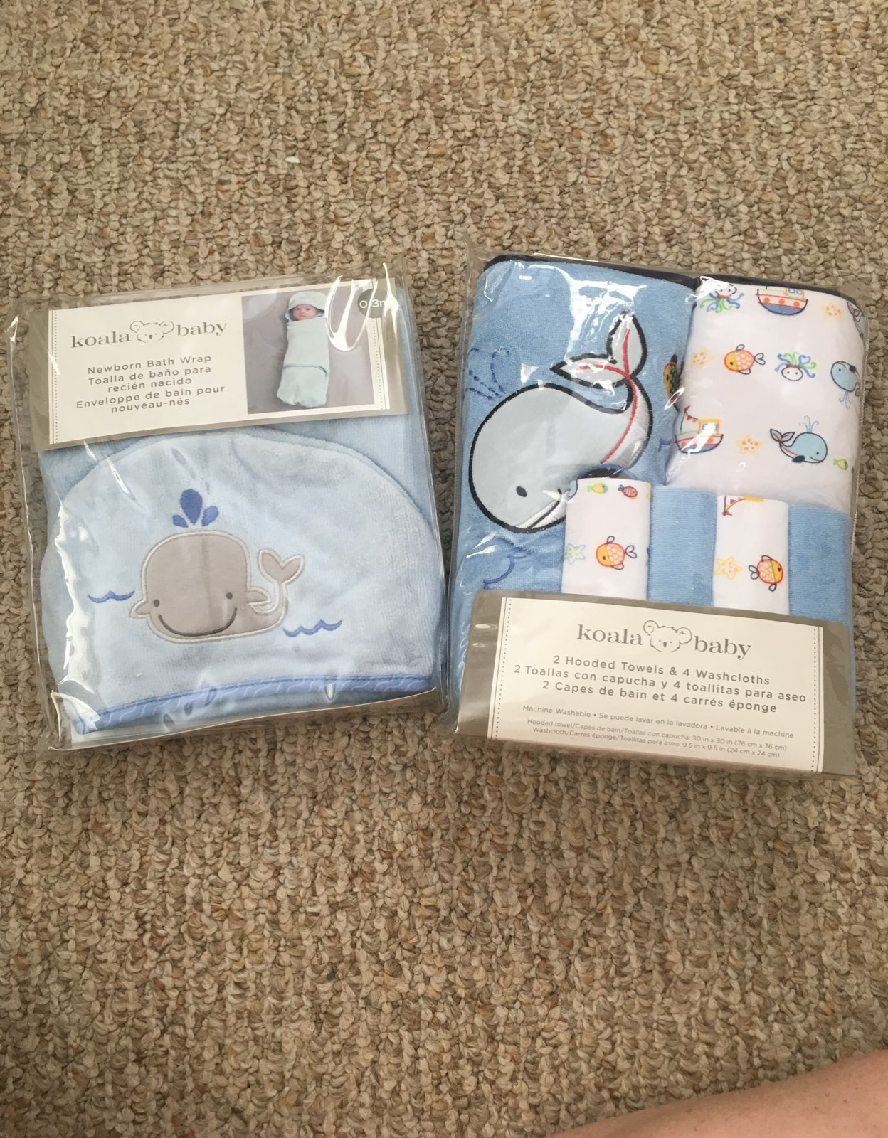 Newborn Whale Towels
