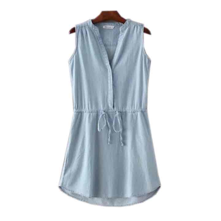 Goodnight Macaroon Elva chambray dress