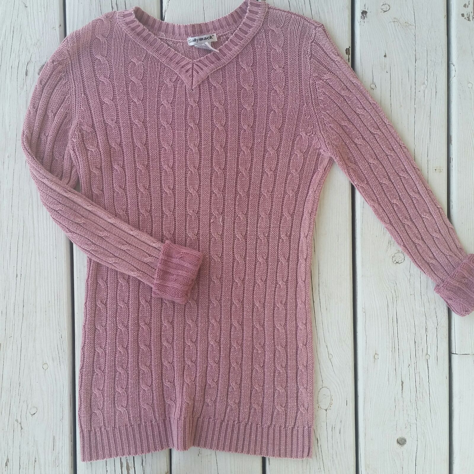 Mauve Pink Cable Knit Sweater - Mercari: BUY & SELL THINGS YOU LOVE