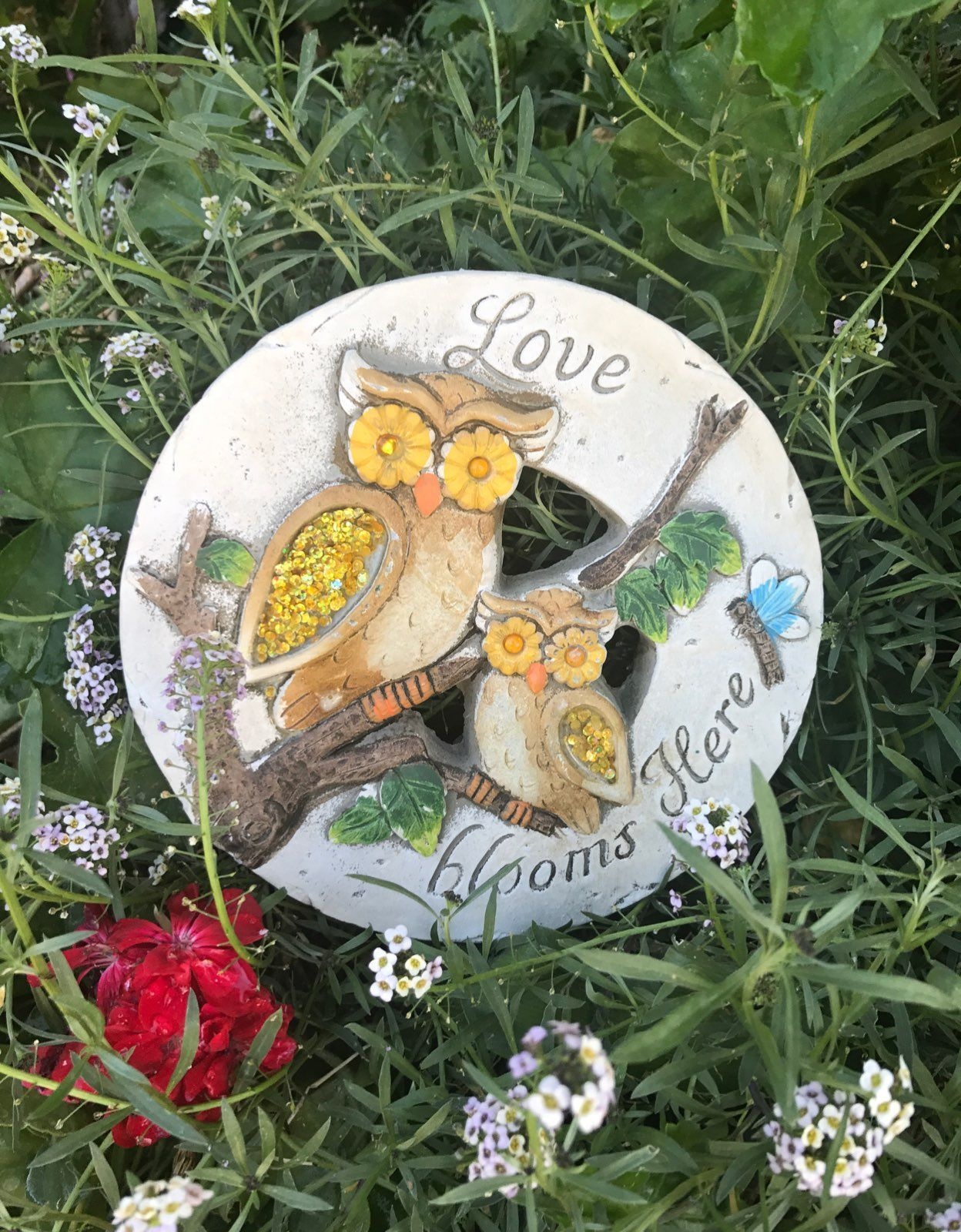 Owl Stepping Stone Garden Decor   Mercari: BUY U0026 SELL THINGS YOU LOVE