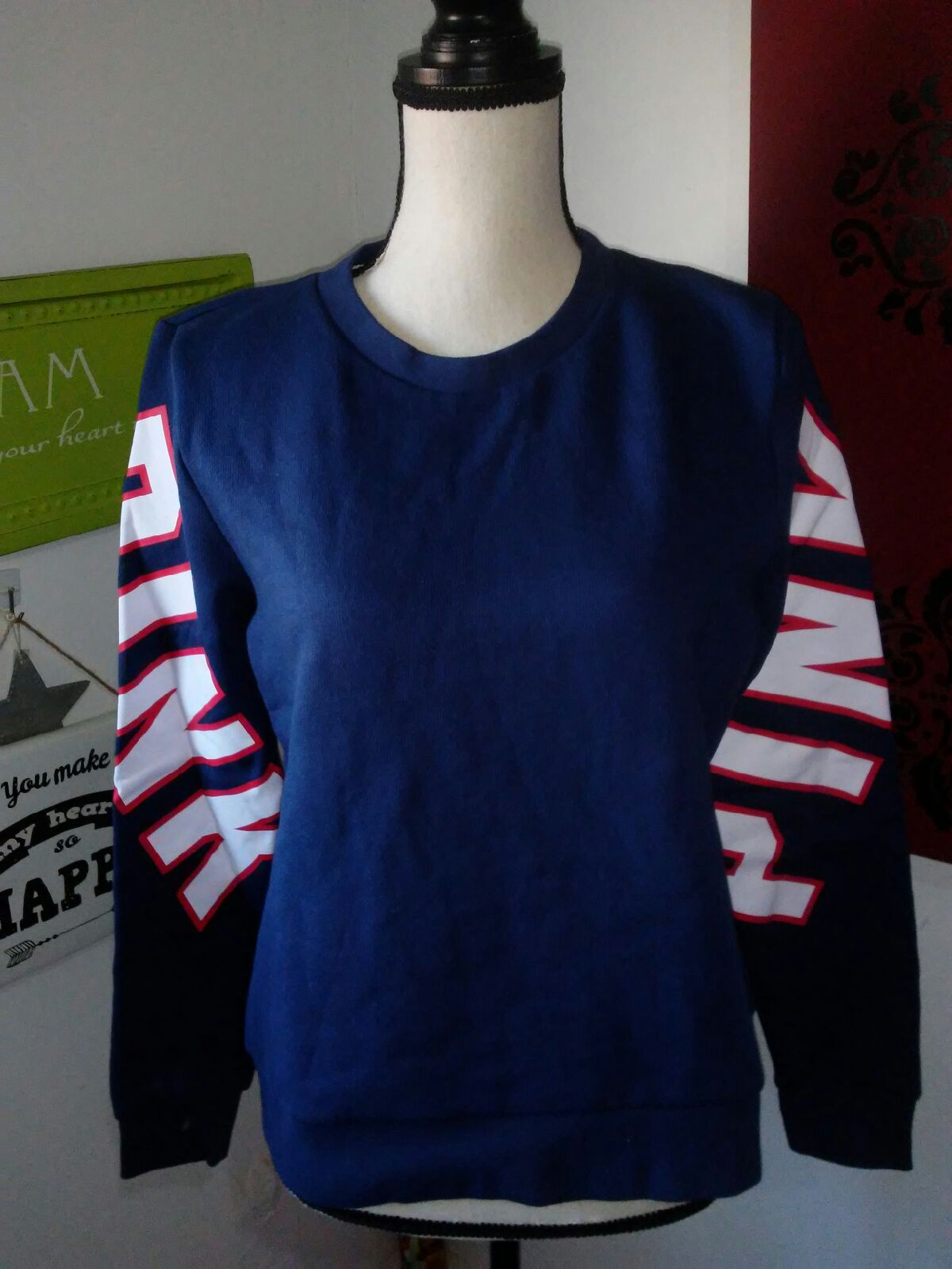 VS PINK CREWNECK SWEATSHIRT SIZE SMALL - Mercari: BUY & SELL ...