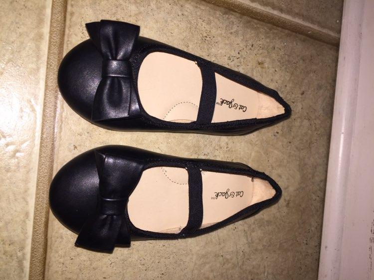 Cat & Jack Flats Black Girls Size 8