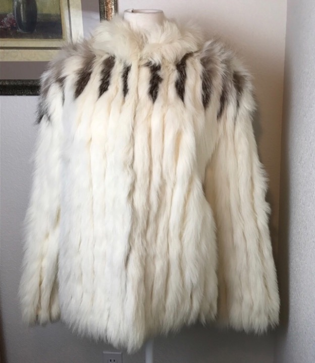 Authentic fox fur coat