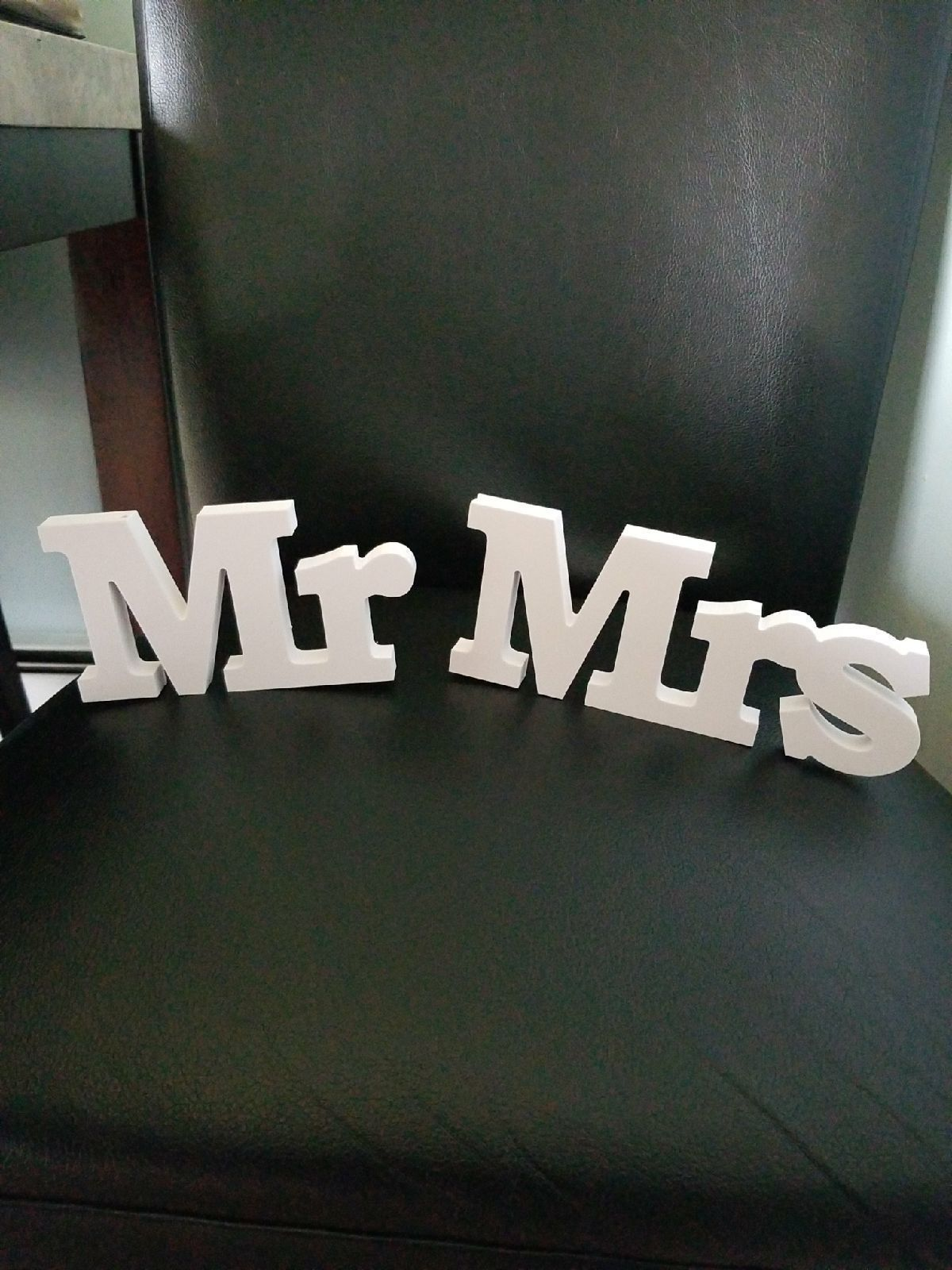 Mr Mrs. Wood signs.