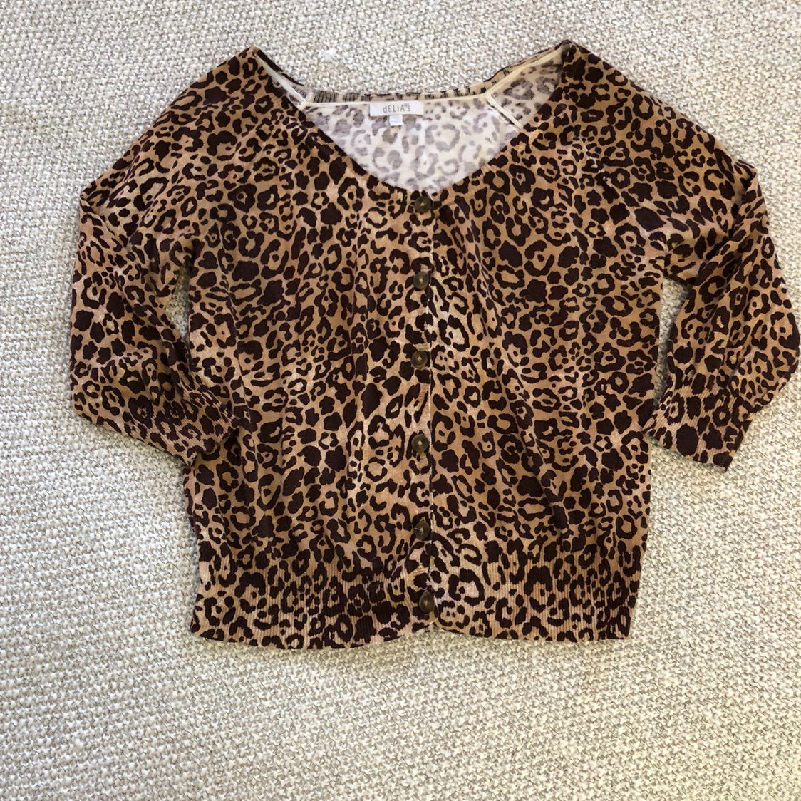 Leopard Print Button Down Cardigan - Mercari: BUY & SELL THINGS ...