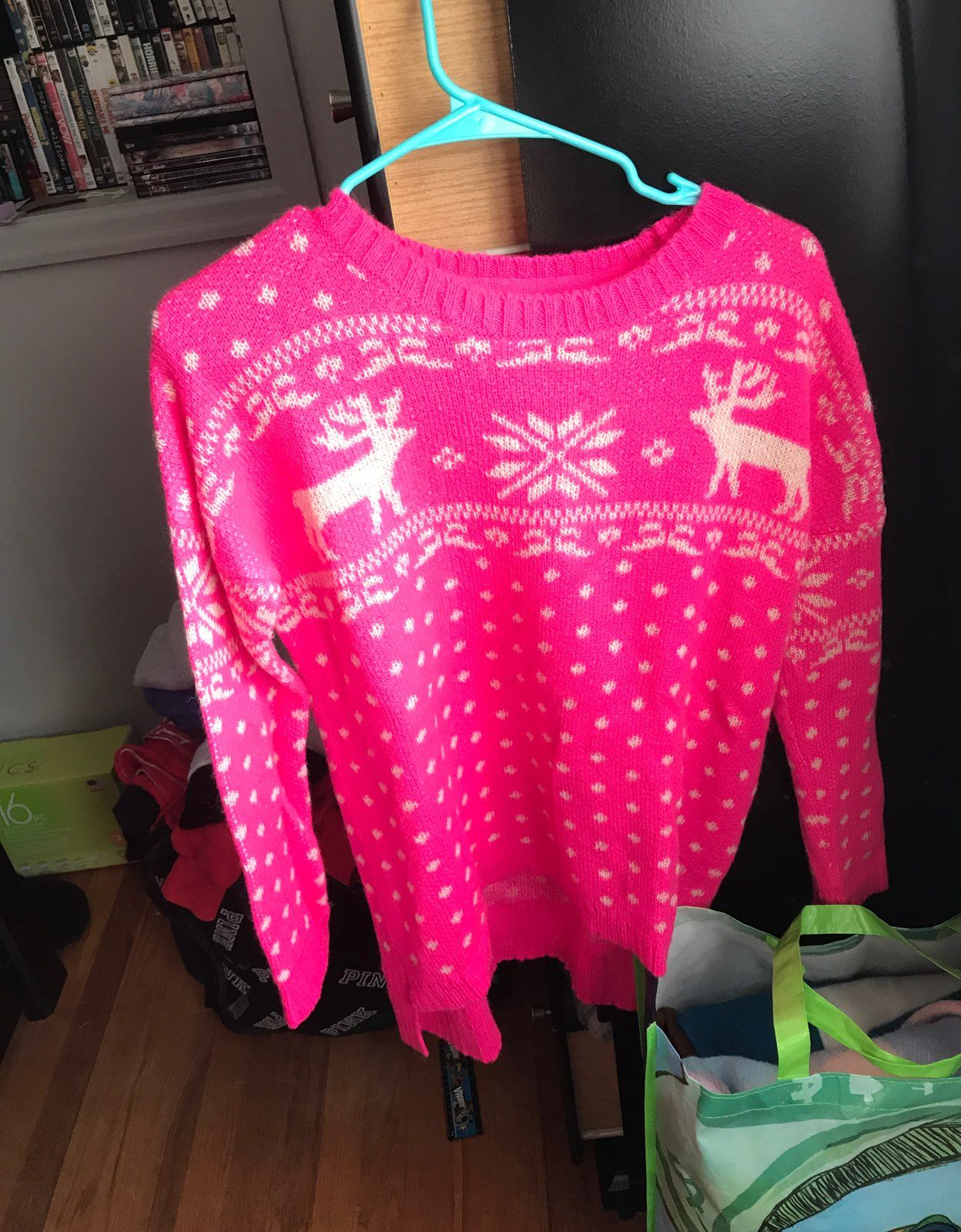 Forever 21 Pink Holiday Sweater - Mercari: BUY & SELL THINGS YOU LOVE