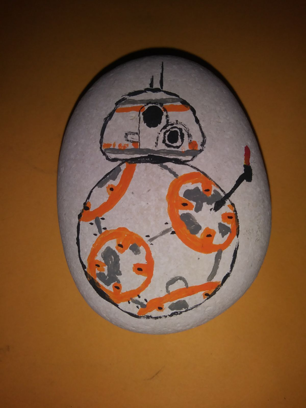 Hand Painted Star Wars BB 8 Rock
