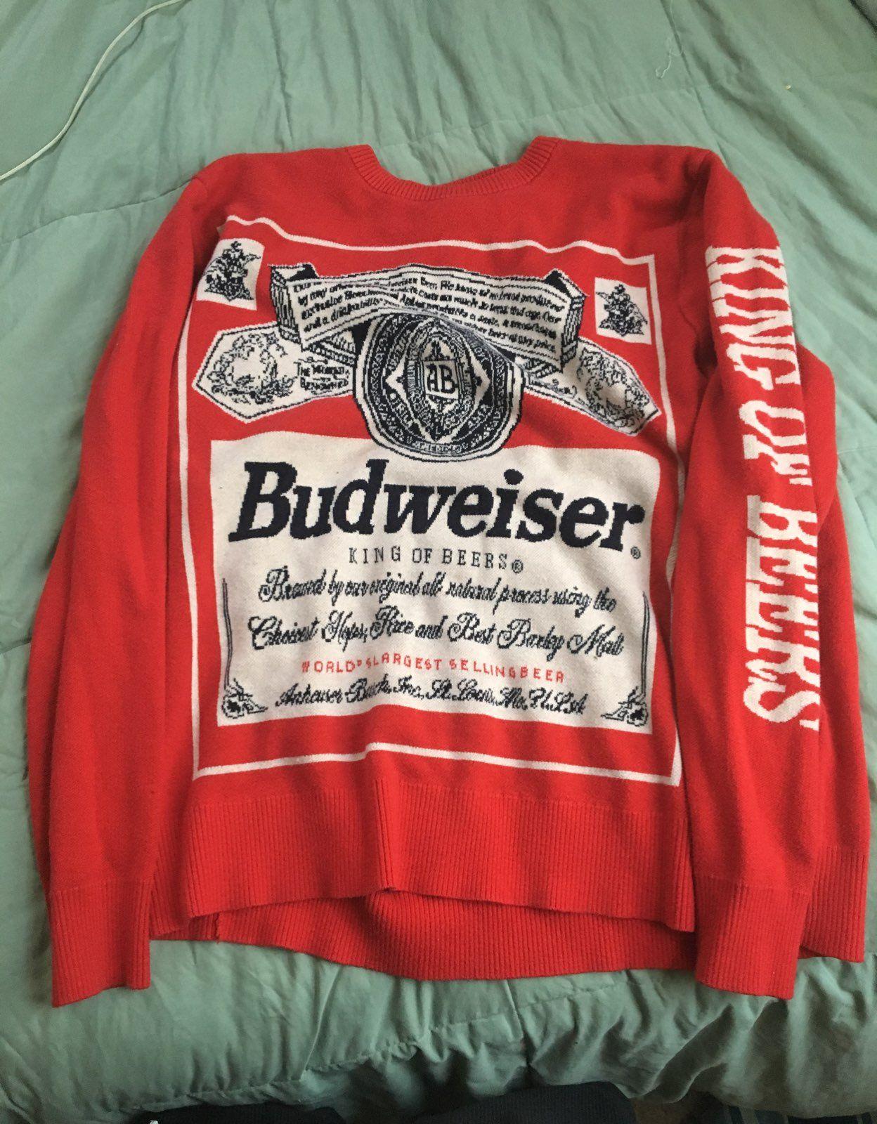 Budweiser Sweater - Mercari: BUY & SELL THINGS YOU LOVE