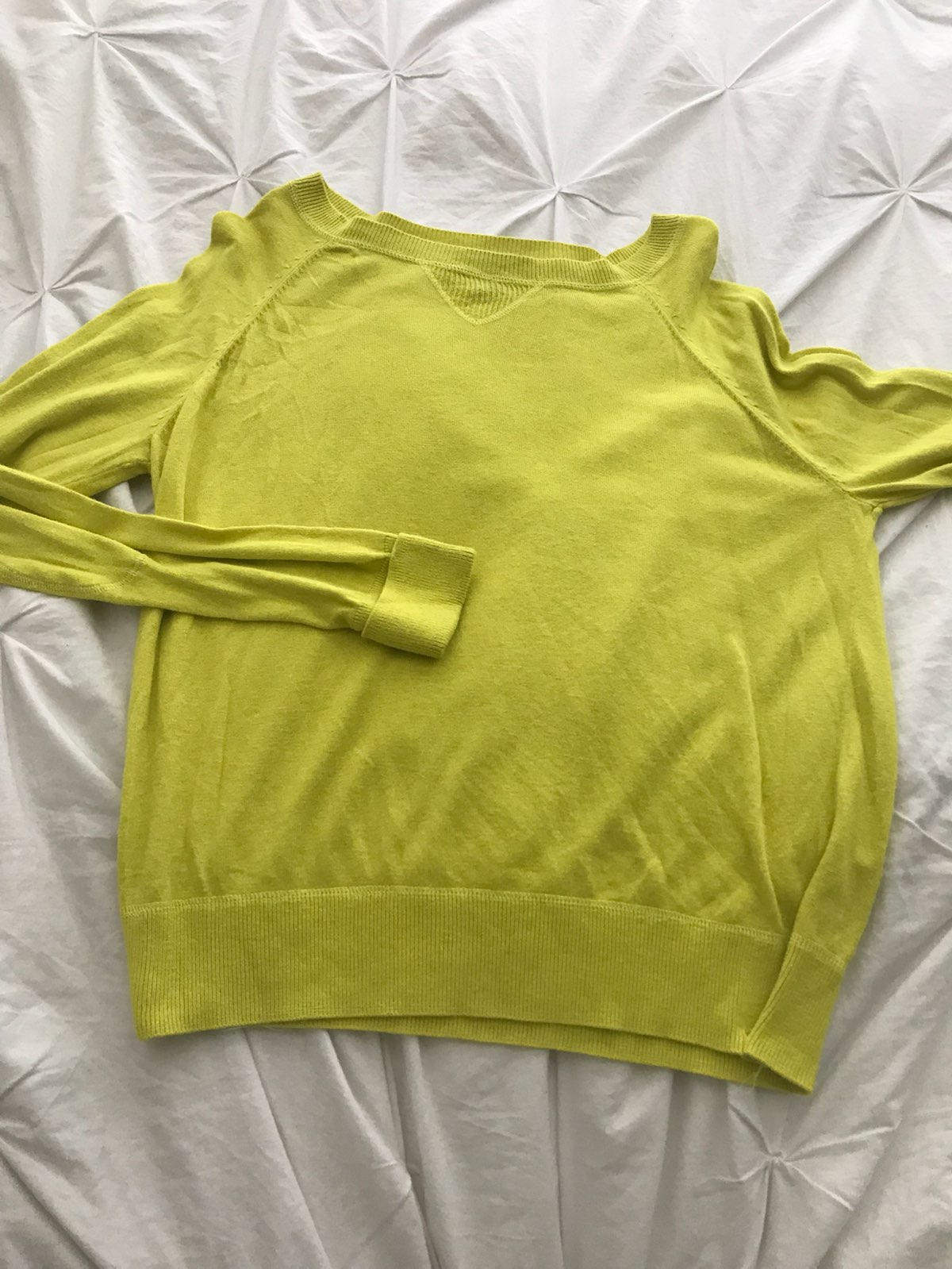 Bright Yellow Sweater - Mercari: BUY & SELL THINGS YOU LOVE