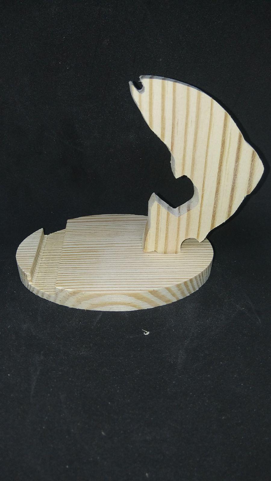 Wood Phone Stand - Fish