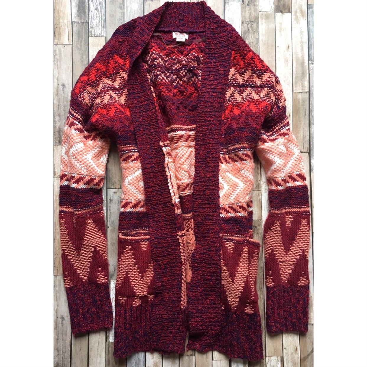 Tribal Oversized Knit Sweater Cardigan - Mercari: BUY & SELL ...
