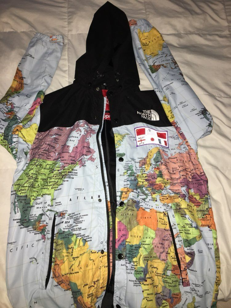 Supreme x the north face world map mercari the selling app supreme x the north face world map gumiabroncs Choice Image