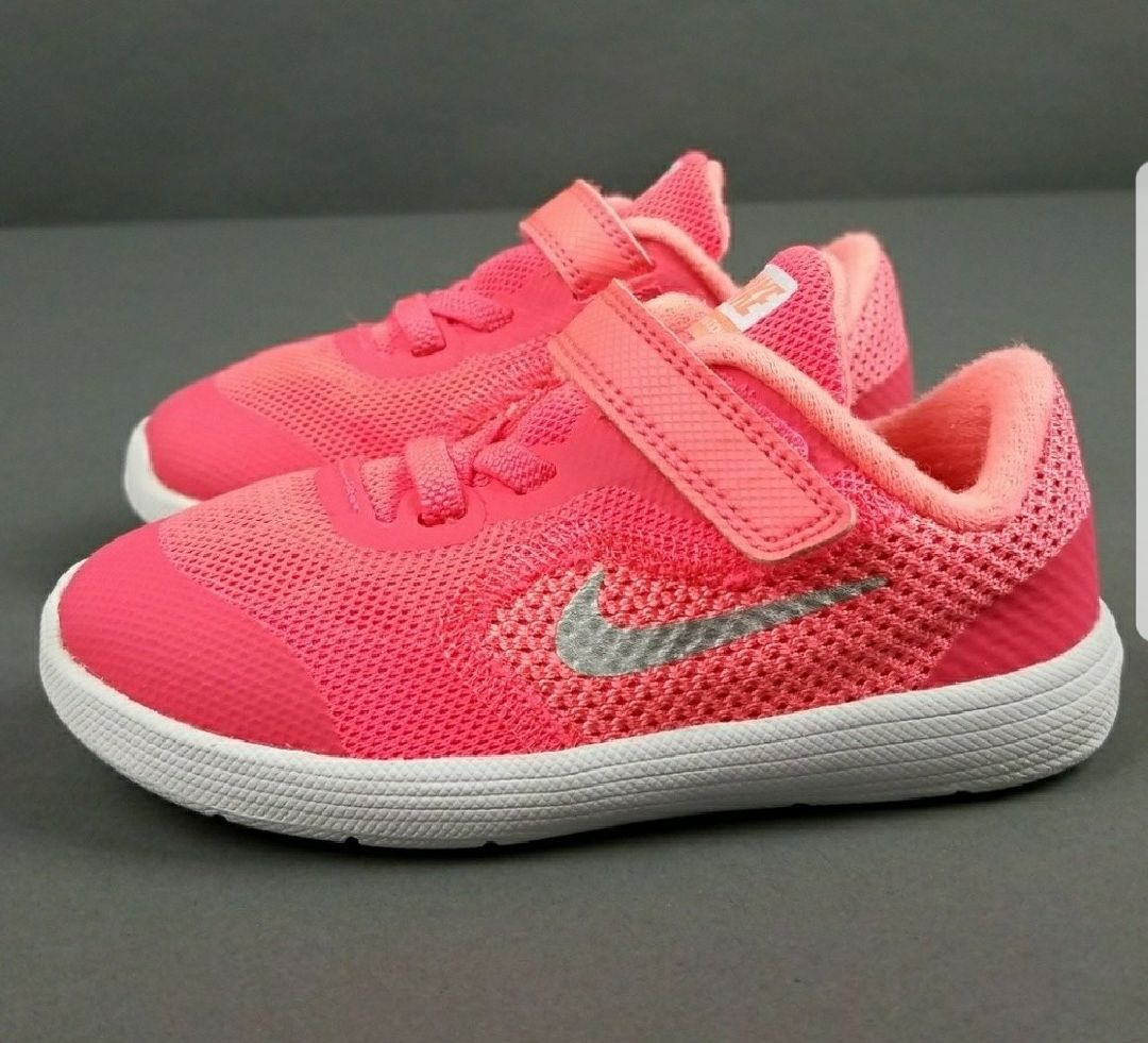 nike 8c. nike revolution 3 girls 8c shoes velcro 8c j