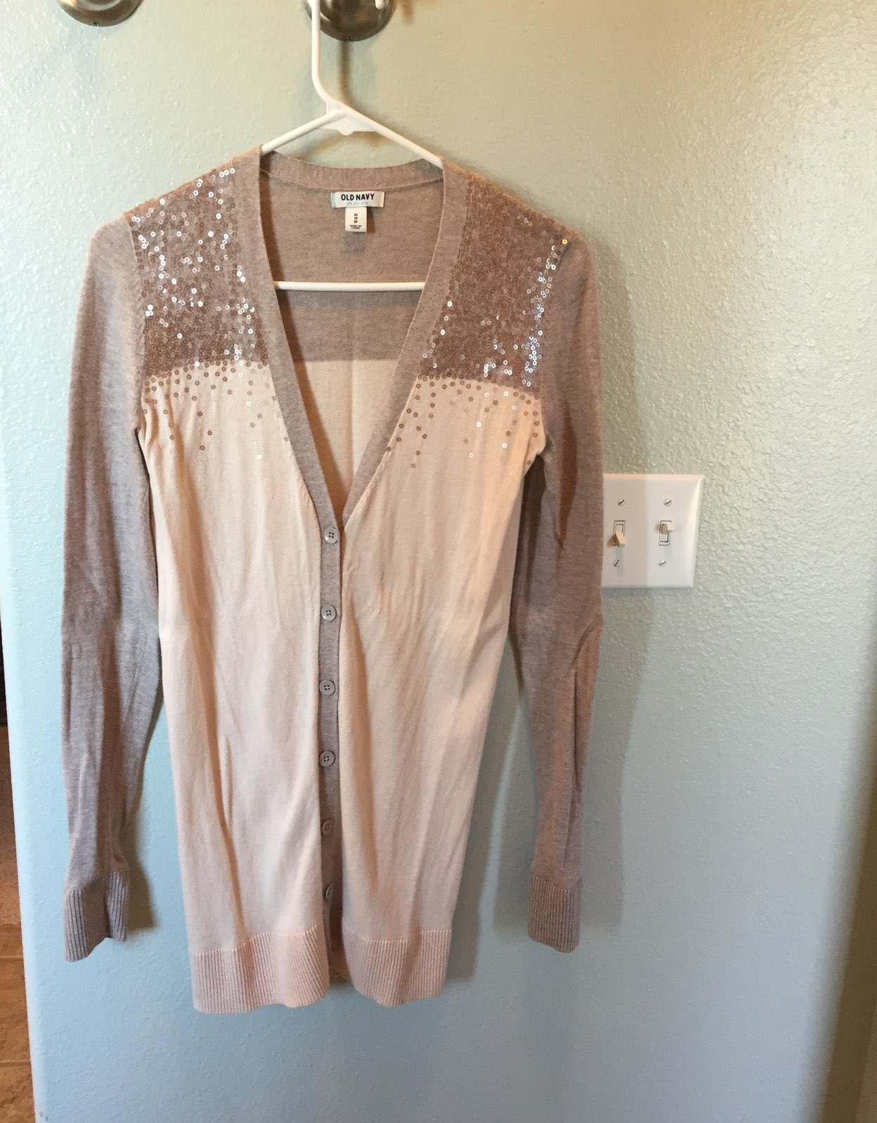Sequin Detail Long Cardigan - Mercari: BUY & SELL THINGS YOU LOVE