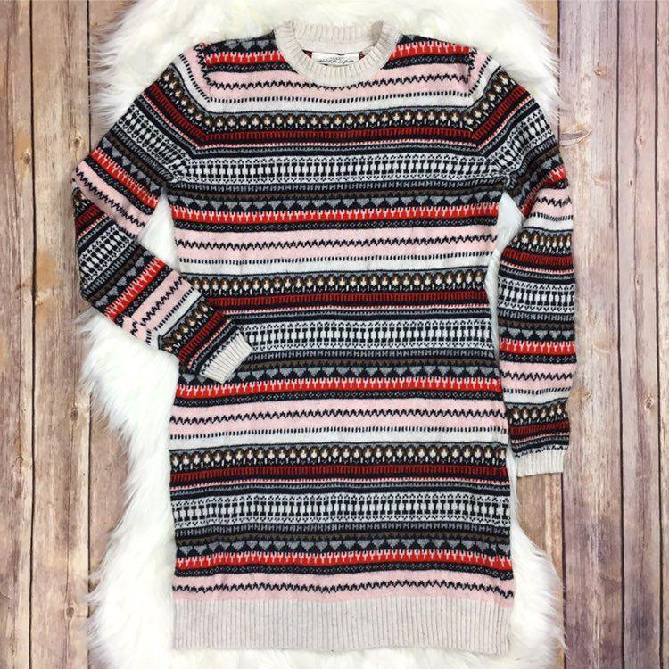 H&M Fair Isle Midi Sweater Dress Small - Mercari: BUY & SELL ...