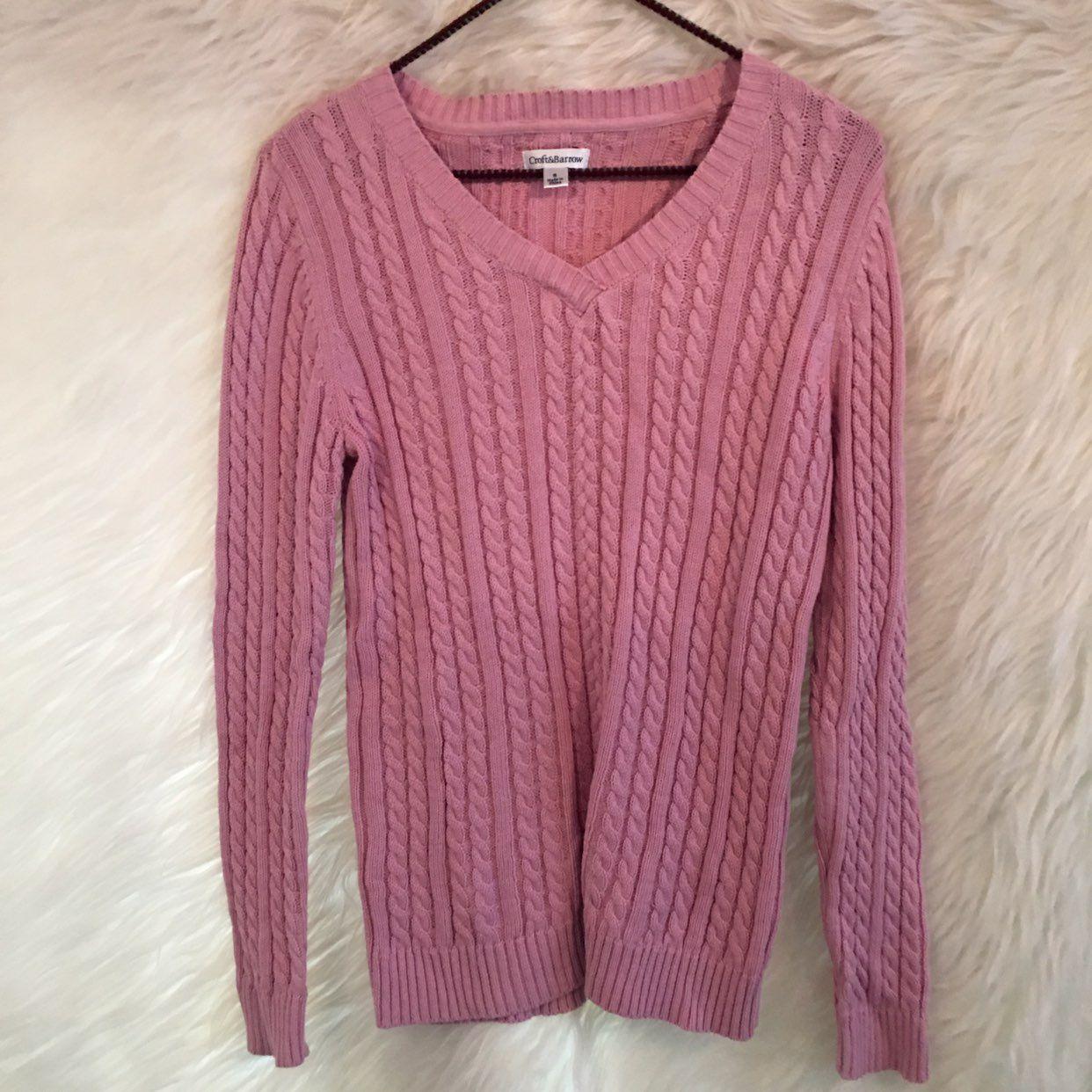 Pink Sweater - Croft Barrow - Small - Mercari: BUY & SELL THINGS ...