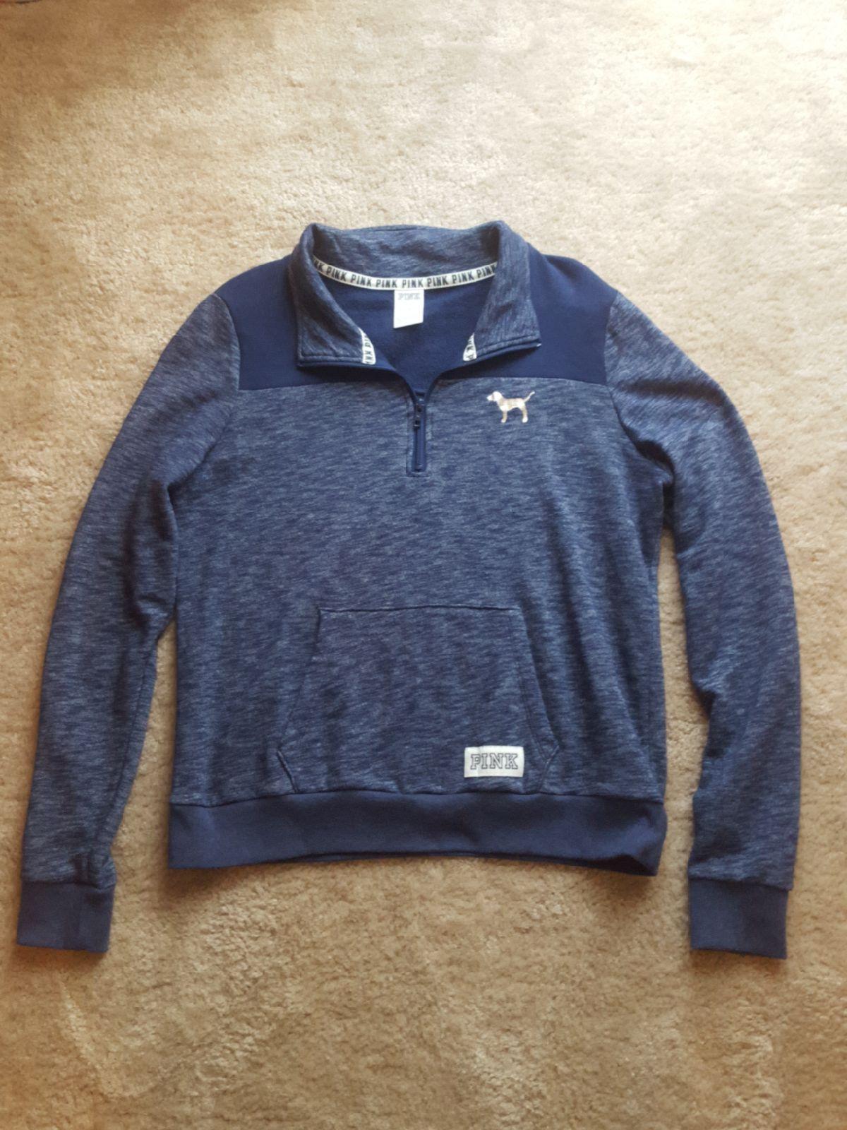 Victoria secret Pink Quarter Zip sweater - Mercari: BUY & SELL ...
