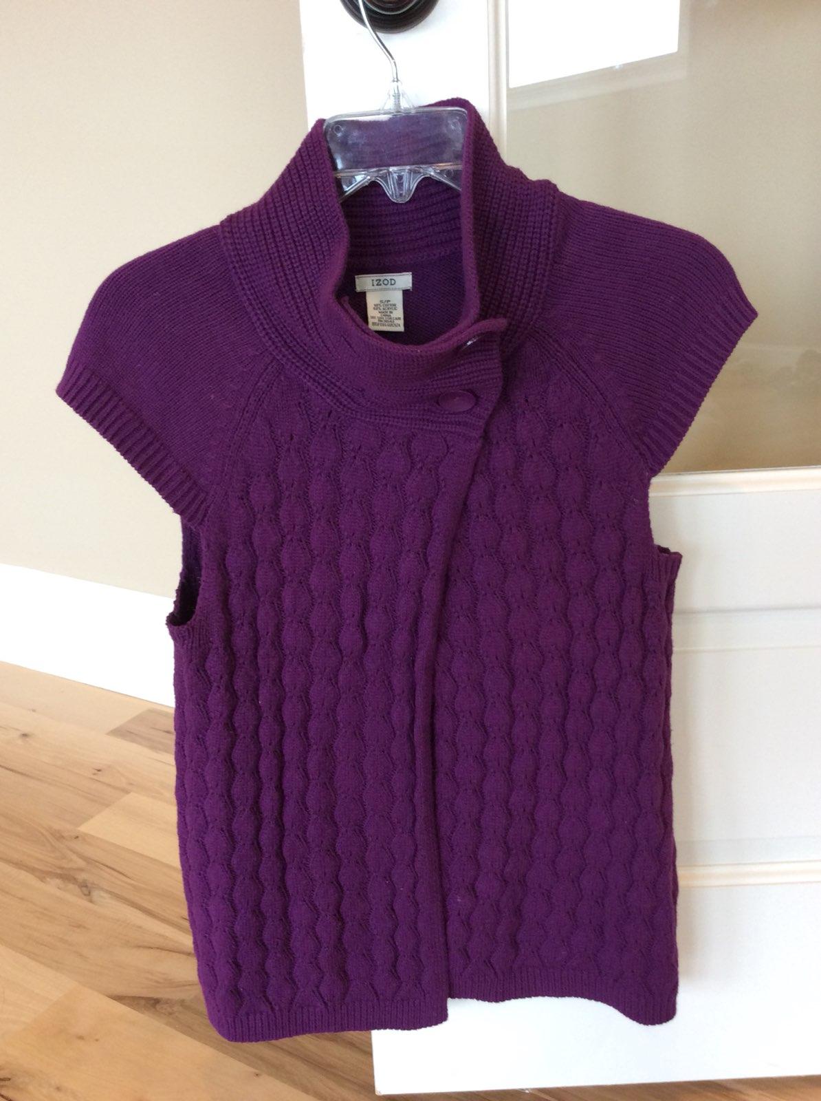 Purple Sweater Vest Small Izod Womens - Mercari: BUY & SELL THINGS ...