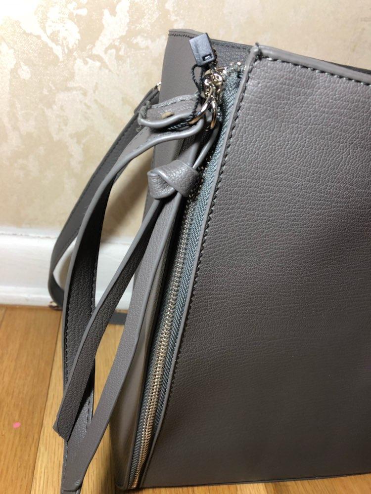 Gray Tote Bag