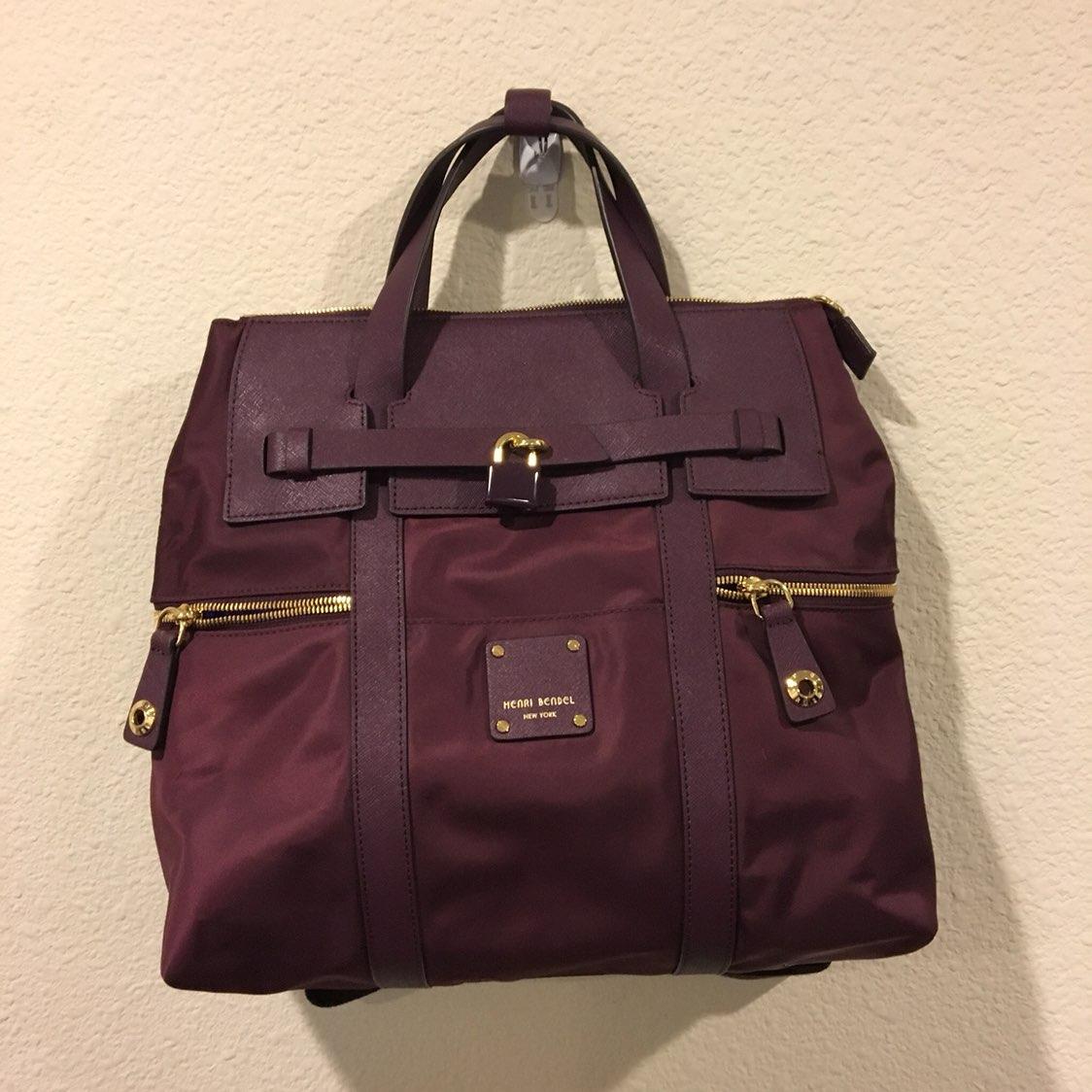 New Henri Bendel Wine Jetsetter Backpack