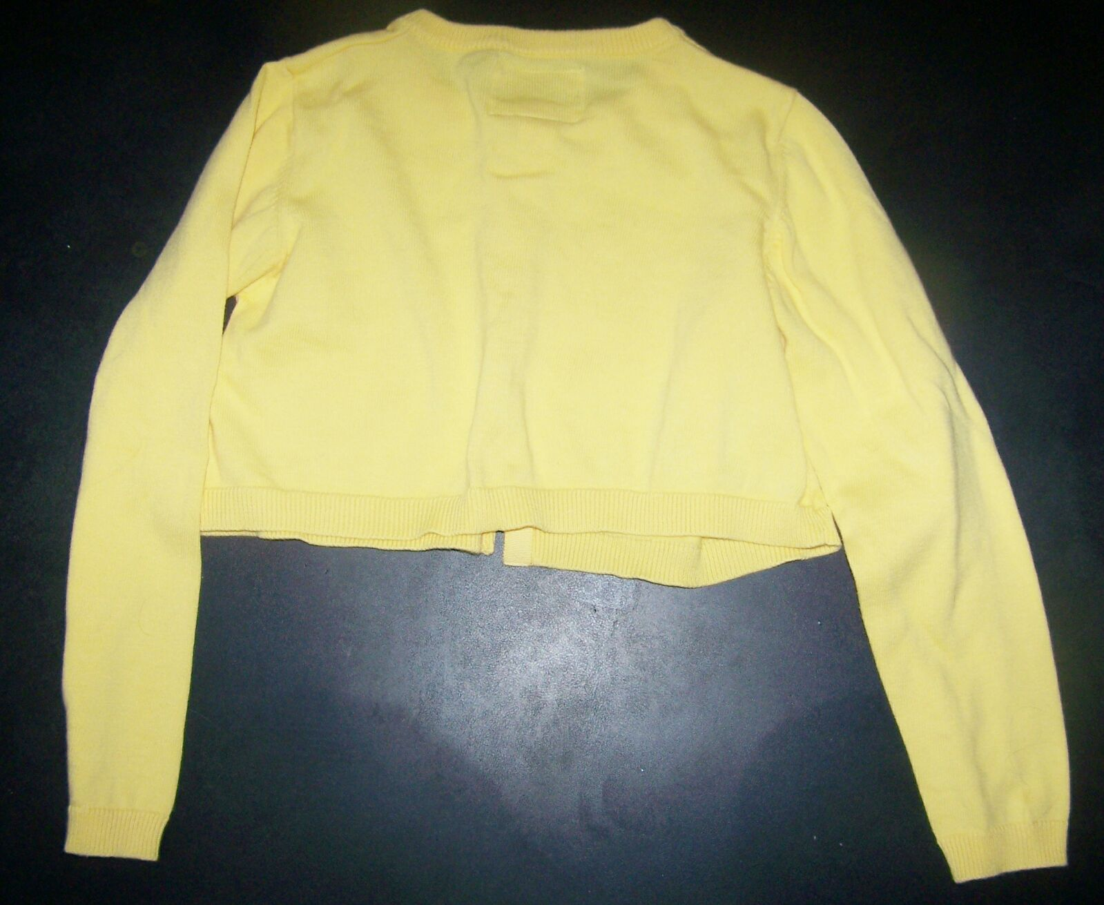 Girls yellow cardigan sweater sz 8 - Mercari: BUY & SELL THINGS ...