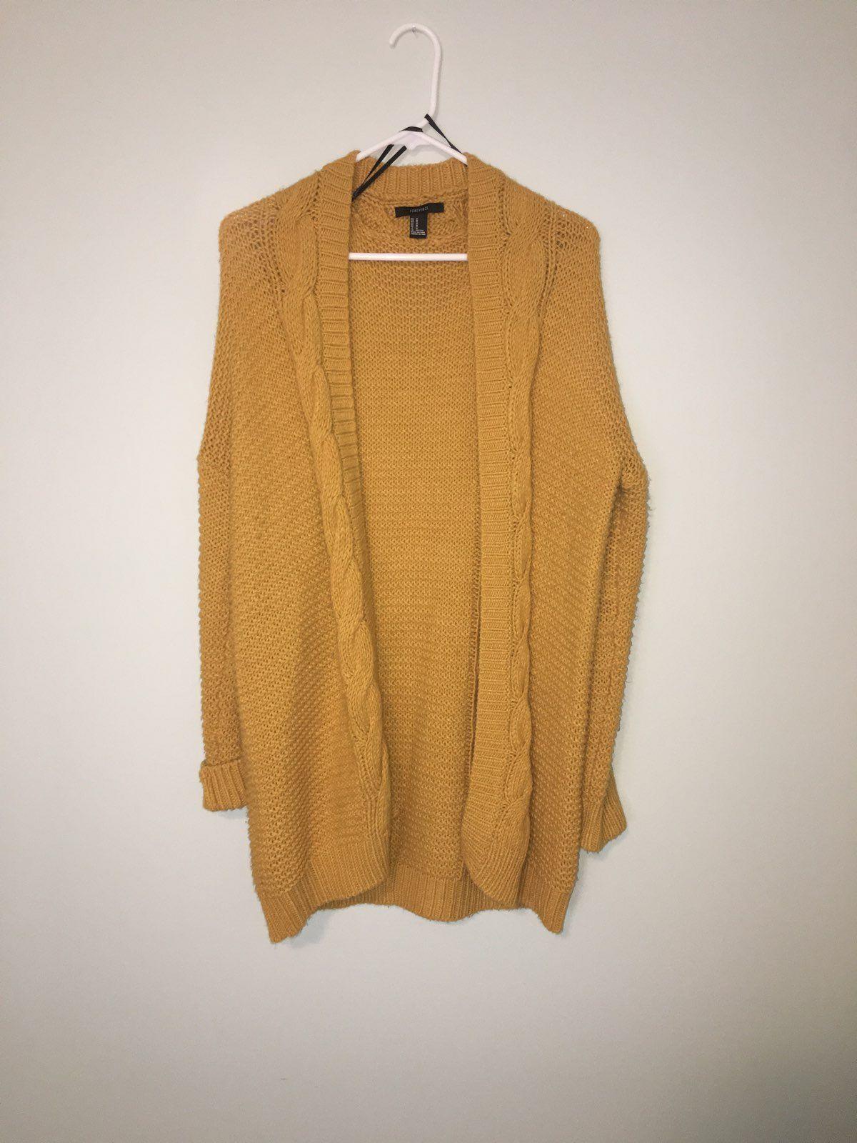 Mustard Yellow Cardigan - Mercari: BUY & SELL THINGS YOU LOVE