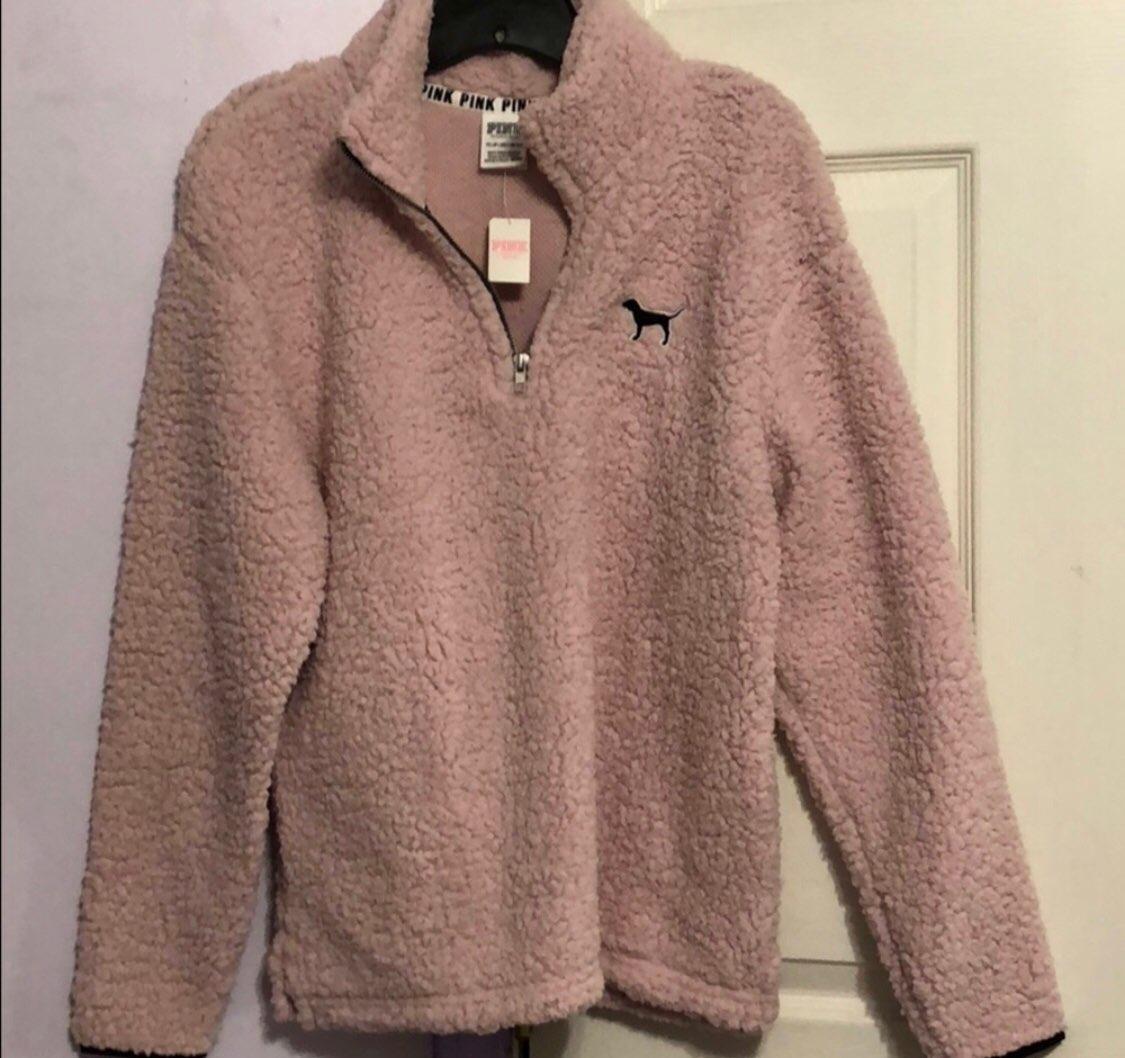 Sherpa Pink Sweater Her Sweater