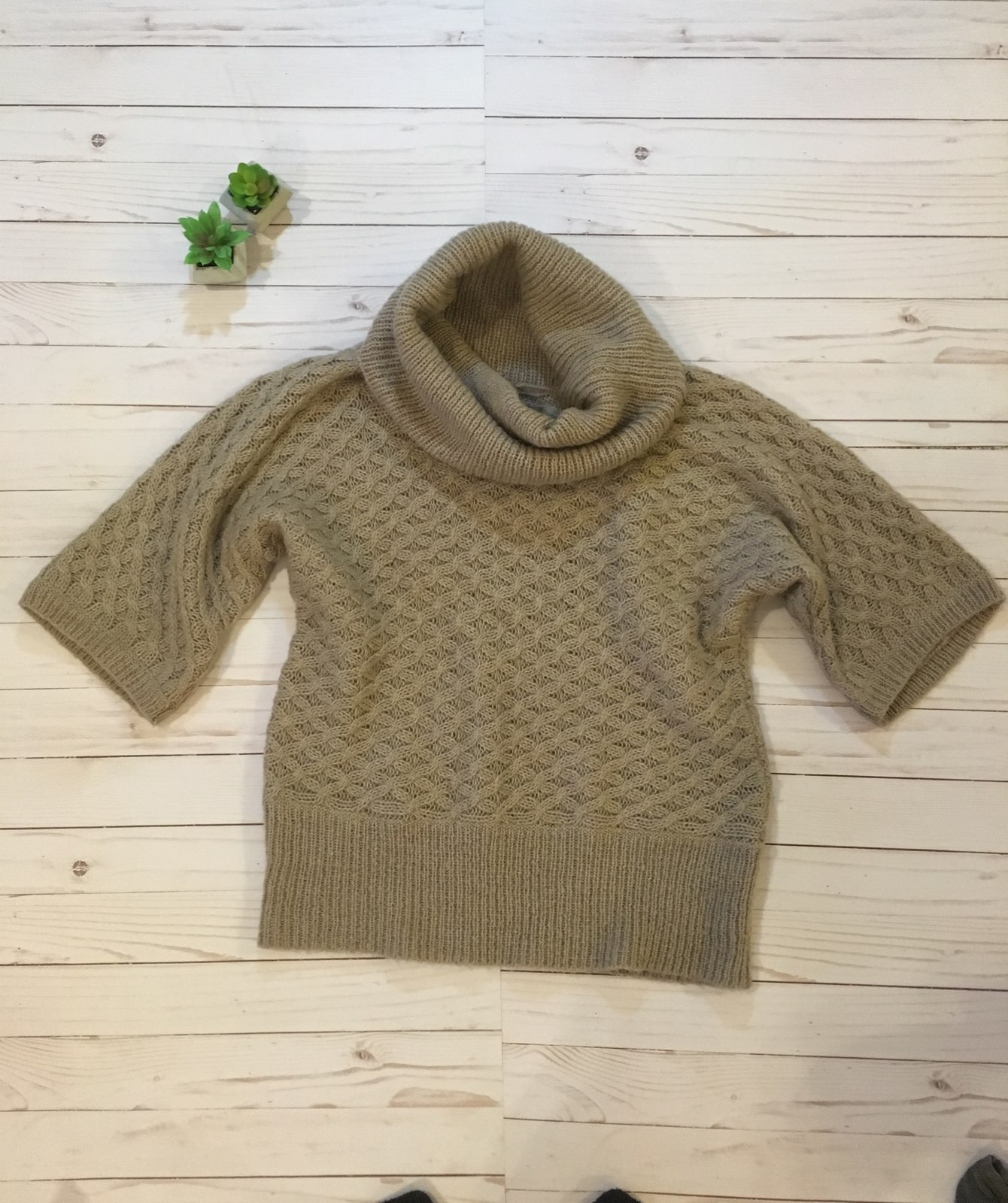 Old Navy Small Beige Cowl Neck Sweater - Mercari: BUY & SELL ...