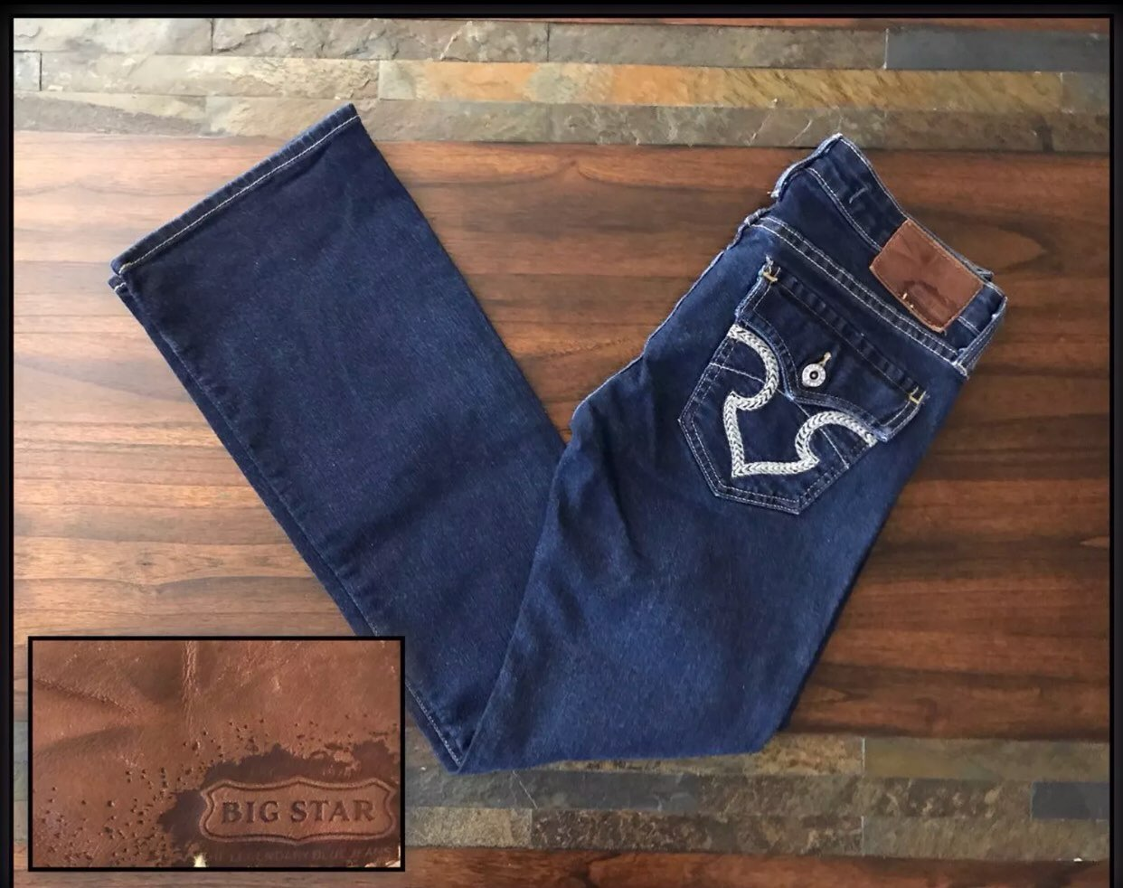 BIG STAR REMY BOOT CUT JEANS SIZE 27